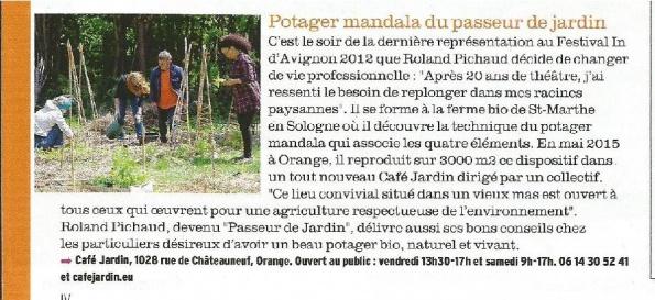 article paru dans le magazine Fémina La Provence du 14 mai 2016