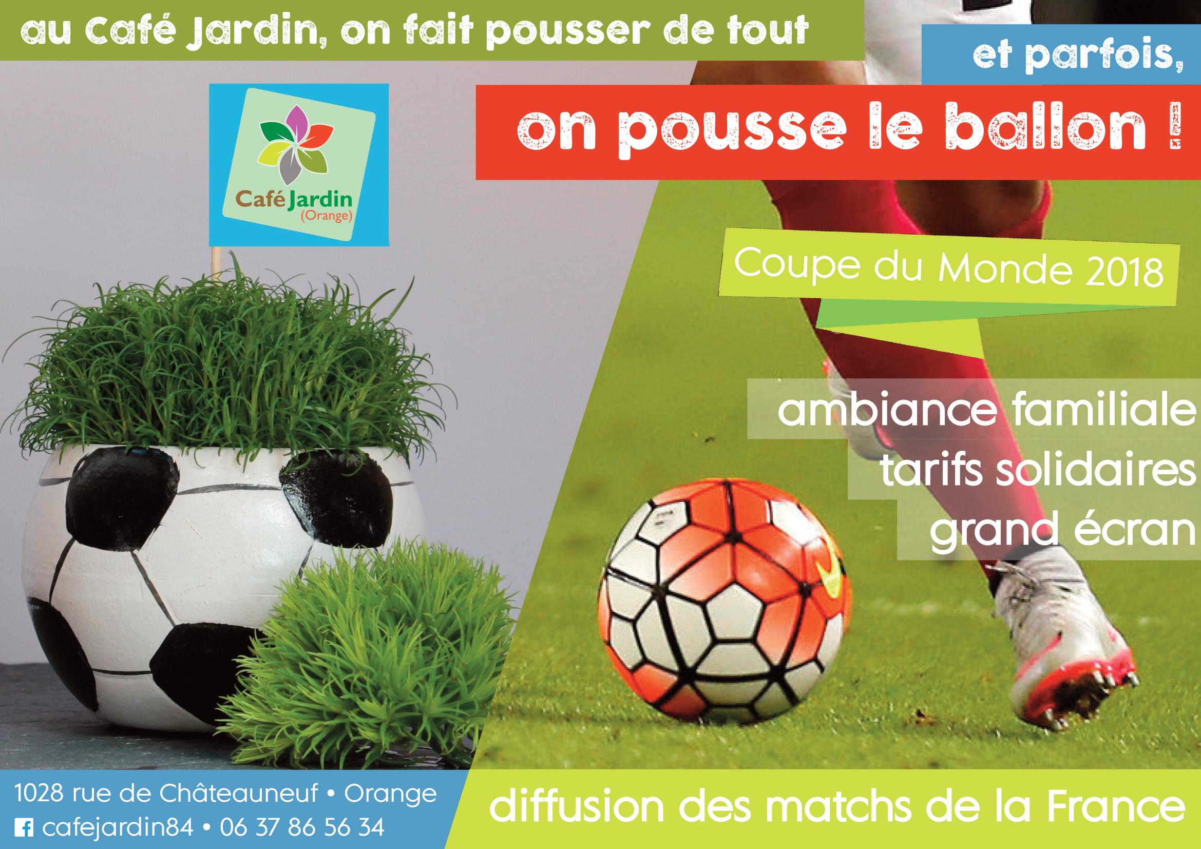Coupe du Monde : les ballons poussent au Café Jardin